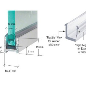 Shower U Channel For 10mm Glass Ps Glass Fittings