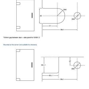 GX991.1-5 Cutout Drawing