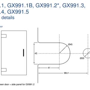 GX991.3 Cut-out