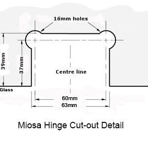 Miosa Hinge Cut-out