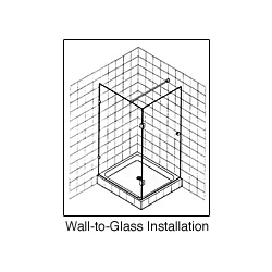 Wall to Glass Installation